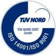 Tuv nord ISO-9001-14001 logo