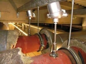 Installation av temperaturgivare i ångledningar