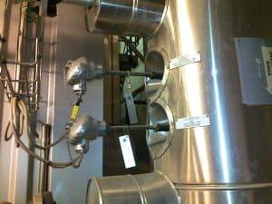 Installerade givare för temperaturmätning i ångledningar
