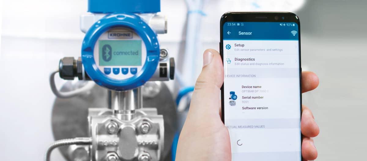 OPTICHECK Pressure Mobile App med tryckgivare