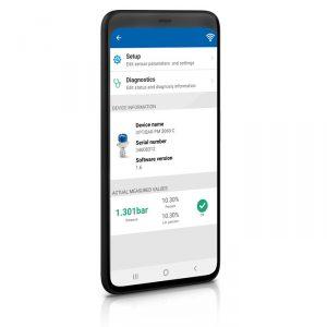 Appen OPTICHECK Pressure Mobile på en smartphone