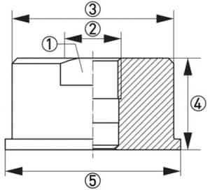 Hygienisk processadapter KPH1-3236 dimensioner