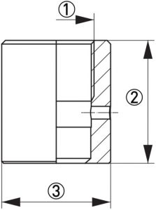 Hygienisk processadapter KPW2-321 dimensioner