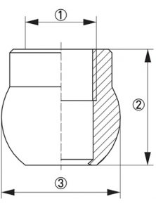 Hygienisk processadapter KPW2-324 dimensioner